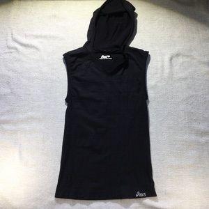 ASICS black hooded seamless tank size M/L